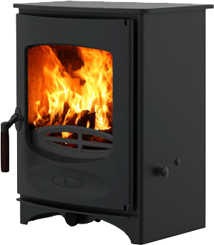 Charnwood C Four Stove  Showing Flames