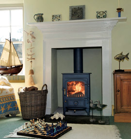 Clearview Pioneer 400 in fireplace