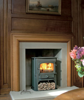 Clearview Solution 500 in fireplace