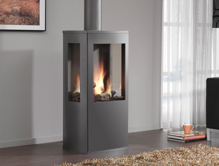 DRU Trio 3 Sided Gas Stove in room setting