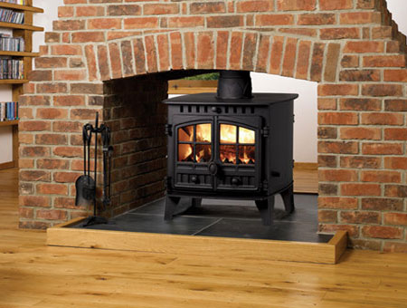 Hunter Herald 6 double sided multi fuel stove