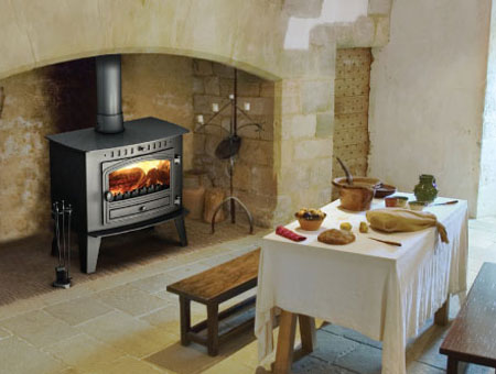 Hunter Inglenook high output multi fuel stove