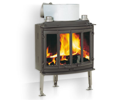 Jotul I 18 Harmony insert wood burning stove in room setting