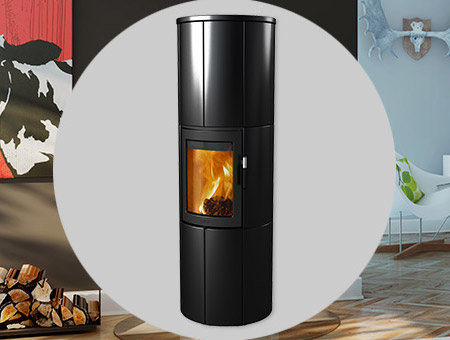 Lotus Maestro Black wood burning stove