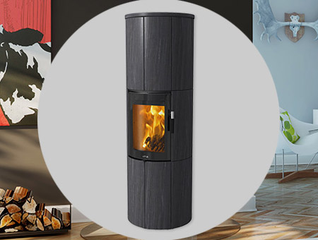 Lotus Maestro Indian Night Magic Door wood burning stove