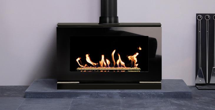 Jotul F 373 C wood burning stove thumbnail - Stovax Riva Vision Large Gas Stove Stovax Stoves UK
