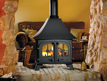 Yeoman County double sided Multi fuel wood burning stove