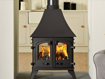 Yeoman Devon double sided multi fuel / wood burning stove
